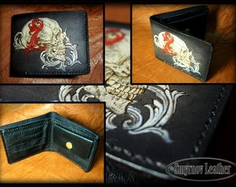 leather wallet skull 2
