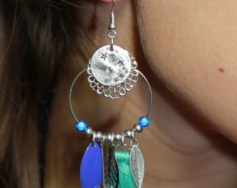Anaïs blue and turquoise earrings