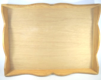 Large Unfinished Wood Serving Tray
