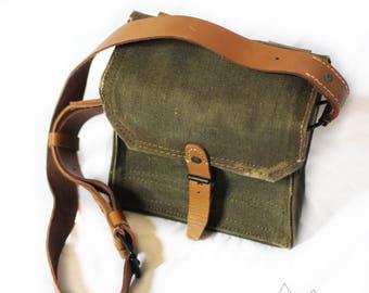 "Vintage Ammo Bag ""The Lensman"" Army Military Vintage Antique"