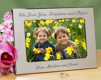 Personalized Silver Picture Frame - Any Message