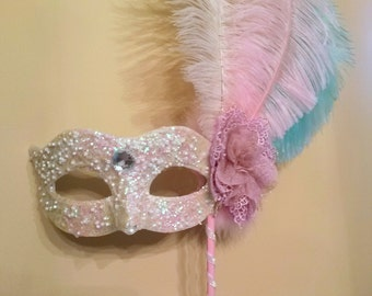 Items similar to masquerade stretched canvas print 12x16 for Mardi gras mask tattoo