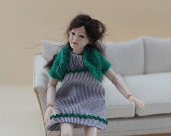 Dress and jacket doll scale 1:12