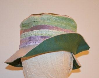 Lilac cotton Sun Hat green portable