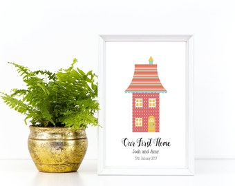 New Home Print, Personalised Home Print, Personalised Our First Home Print, New Home Gift, New Home Present, First Home Print
