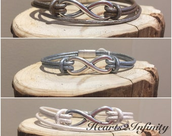 Infinity Bracelets (Double or Triple Cord)