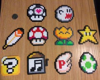 Perler Mario Powerups