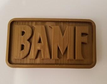 Overwatch McCree Cosplay BAMF Belt Buckle