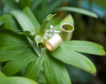 Minimalist brass earrings