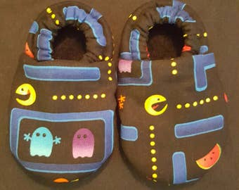 Pac man Cloth Baby Booties