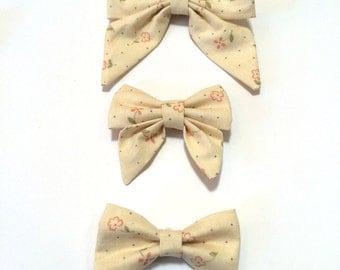 Delicate Cream Floral Hair Bow