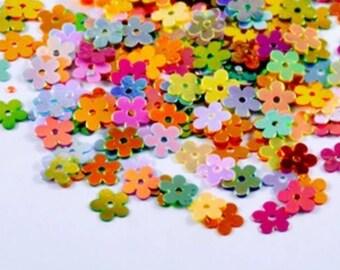 g iridescent multicolored flowers decorations!