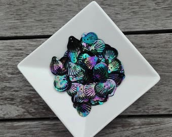 Shell sequins, Oil Slick, sequin, seashell, make your own mermaid tail, mermaid, free shipping