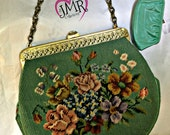 Vintage Handbag  Vintage Tapestry Bag  Vintage Purse