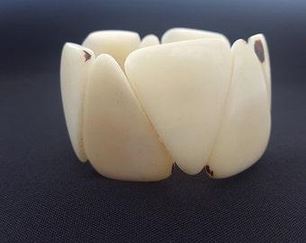 Bracelet Tagua Cream