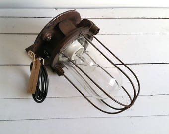"Industrial rustic ""Bully"" wall light"