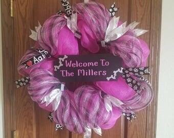 Welcome decomesh wreath