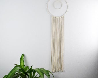 Macrame circle wall hanging