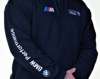 Hoodie BMW, navy blue  color. Free Shipping