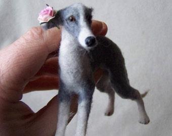Ooak Miniature   Italian Greyhound Dog by Malga