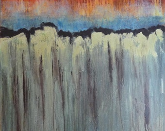 Abstract Original Painting Contemporary Modern Art Landscape Inspired by Nature - Fractured