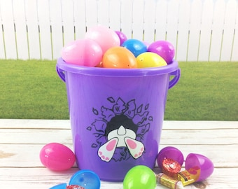 Easter Pail/Easter Bucket/Easter Basket/Egg Hunt/Easter Egg Basket/Easter Egg Pail/Easter Egg Bucket/Easter Tote/Easter Bag