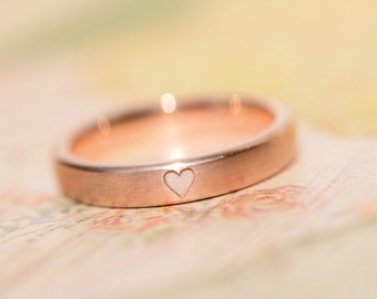 Is my heart engagement ring * your * red gold plain narrow
