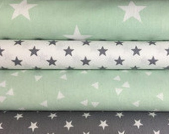 Fabric package, mint grey way. 7915