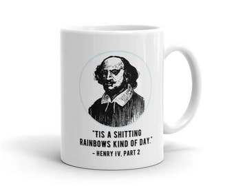 Funny mug // Funny graduation gift  // Shakespeare mug // Literary gifts // Gifts under 20 dollars // gifts for actors // graduation gift