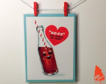 Soda Pop Valentine Greeting Card