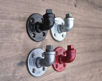 Industrial Hooks, Plumbing Pipe, Pipe Hooks, Industrial Decor, Industrial Home Decor, Wall Hooks, Coat Hooks, Rustic Hooks,Rustic Home Decor