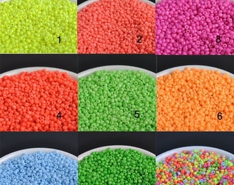 NEON  2mm 3000pcs 9 colors Crystal Glass Czech Seed NEON  Beads For jewelry