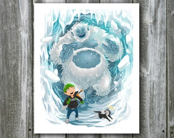 Garrison and the Yeti – 8x10 Art Print