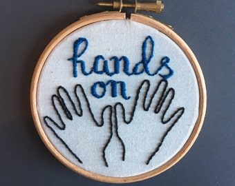 Hands on - 4 inch hoop embroidery