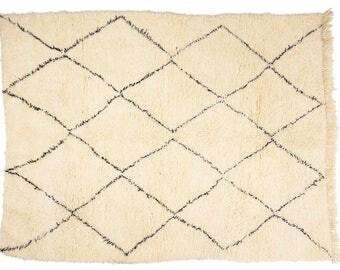 "Alfombra Beni Ouarain | New-Made Moroccan Berber Carpet |  Space | 9,1' x 7"" | 277 cm x 213 cm"