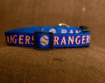 Texas Rangers Dog Collar, Baseball Dog Collar, Summer Dog Collar, Adjustable Dog collar, Custom Dog Collar, Boy Dog Collar, MLB dog Collar