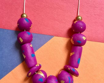 The Sparkle - handcrafted polymer clay necklace