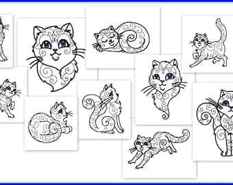 Machine Embroidery Designs - dolphin - ponies - cats