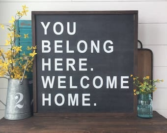Welcome Wall Decor welcome home | etsy