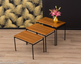 60s nesting tables, coffee table, Denmark, 50 (701022)