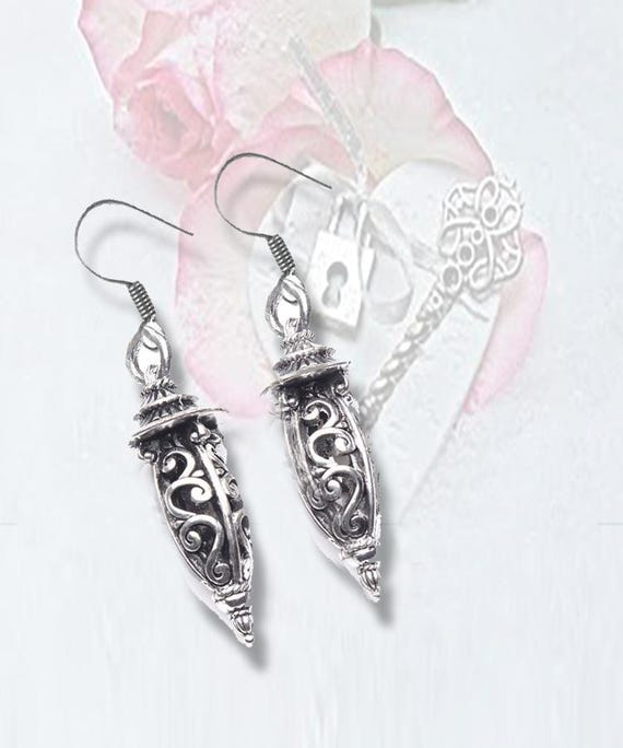"""Open Work Silver """"Lantern"""" Earrings - A  FAVORITE!  **FREE U.S. SHIPPING**"""