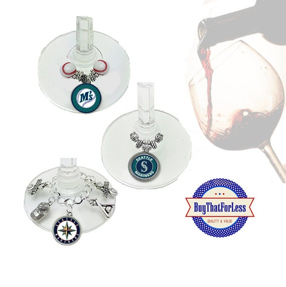 SEATTLE Wine or Bottle Charms, Napkin Rings, Set of 6, U Choose Style  +FREE SHiPPiNG & Discounts*