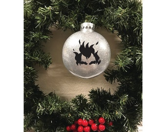 Junkrat inspired, Junkrat inspired Logo, Glitter Ornaments, Christmas Ornament, Overwatch inspired Christmas, Junkrat inspired Christmas