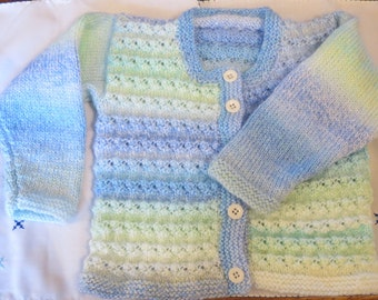 Child Cardigan Hand Knitted Toddler Baby aged 24 months
