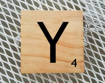 Scrabble | Scrabble Letters | Scrabble Custom Letters | Choose Your Own Letter | Scrabble Sign For You | Gift You'll Love | Home Decor | Y4
