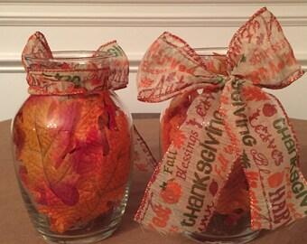 Fall Vase Decoration