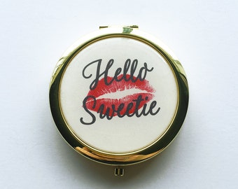 Hello Sweetie Compact Mirror
