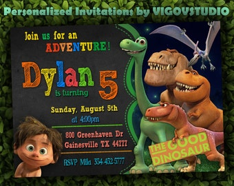 The Good Dinosaur invitation-The Good Dinosaur Birthday-The Good Dinosaur invite-Invite for girl-Invite for boy-Good Dinosaur Party