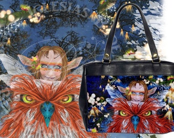 Friends of Flight - Leather HandBag - Fairy Owl