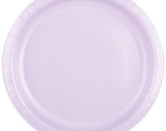"""25 (9"""") Lavender Round Paper Plate, Wedding Supplies, Wedding, Wedding Decor, Plastic Plate, Party Supplies, Paper Plates, Wedding, Decor"""